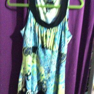 NWOT asymmetrical sleeveless blouse